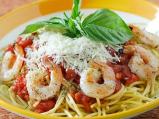 Enjoy the exotic taste of the ocean with a delicious plate of seafood pasta.  © istockphoto.com/Michael Valdez