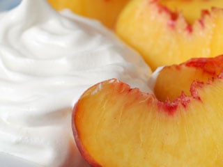 Use fresh or frozen peaches to make this delectable dessert. © istockphoto.com/Marie Fields