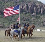 Re-enactors portray Buffalo Soldiers