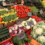 Many of the small growers at Farmer's Markets are organic growers. Even for those local farmers who do use some chemicals, however, the amount which they use is far less than large commercial farms. © istockphoto.com