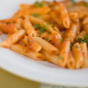 You can't go wrong with chicken, pasta, and a velvety cream sauce. © iStockphoto.com/Lorenzo Colloreta