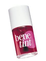 "Benefit's ""benetint"" can go on your lips on its own or under gloss, or on your eyelids, just a drop of this magic liquid will wakeup your face with a punch of color in seconds! © benefit"